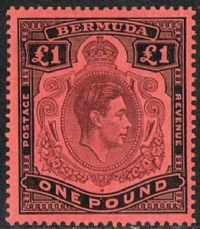 Bermuda SG121 1938 Definitive £1 mounted mint